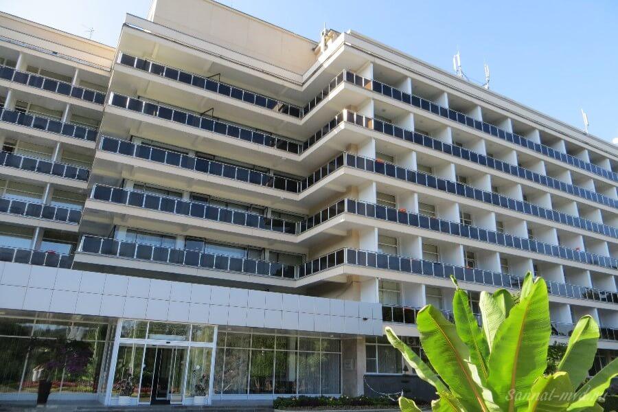 Общий вид главного здания санатория Нальчик МВД