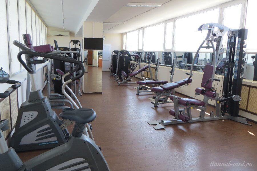 Спортивный зал в санатории